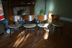 G Plan E Gomme Librenza 'Butterfly' Dining Chairs x 4 - 1960s