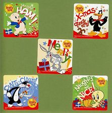 10 Looney Tunes Christmas Holiday - Large Stickers -  Daffy Duck, Bugs Bunny