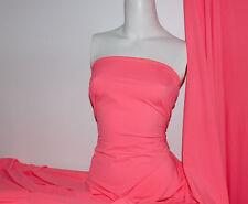 Neon Coral Lycra/Spandex 4 way stretch Finish Fabric