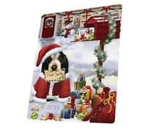Bluetick Coonhound Christmas Dog Tempered Cutting Board (Large) Db1367