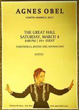 AGNES OBEL 2017 Gig POSTER Toronto Concert Ontario Canada