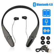 Bluetooth4.0 Neckband Wireless Headphones Mic Headset Stereo Earbuds Earphone US