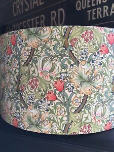 MADE TO ORDER LAMPSHADE WILLIAM MORRIS GOLDEN LILY FABRIC