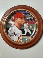 Mark McGwire Home Run Hero Plate Record Breaker 9-8-98 Wall Hanging Plate 4189B