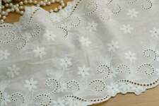 1 Yard Eyelet Embroidery Trim Floral Cotton Lace Ribbon Clothing Wedding Fabric