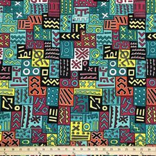 African Print Fabric 100% Cotton 44'' wide sold by the yard (185172-3)