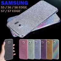 Full Body Wrap Bling Decal Vinyl Glitter Sticker Skin Cover For Samsung Phones