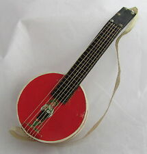 German Dresden Paper Banjo Candy Container Christmas Feather Tree Ornament