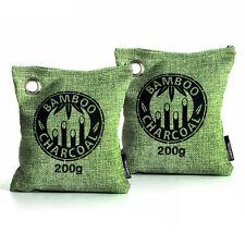 Bamboo Charcoal Bag Air Purifying Bag Air Freshener Odor Deodorizer 2 x 200g