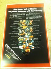 Vintage Yamaha Tune Up Checklist Motorcycle Poster Advertisement  Christmas Gift