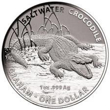 Australien 1 Dollar 2014 - Graham Salzwasser-Krokodile (2.) - 1 Oz Silber ST