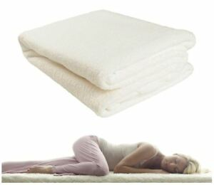 Deep Thermal Fleece Underblanket Bed Mattress Protector Cover Fitted Sheet Warm