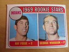 1969 TOPPS #244 INDIANS ROOKIES RAY FOSSE GEORGE WOODSON W/ FREE SHIPPING