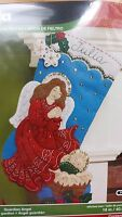 "Bucilla Guardian Angel 16"" Felt Christmas Stocking Kit #86483 Baby Jesus"