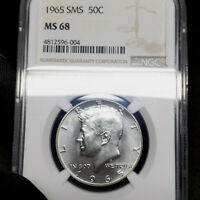 1965 SMS MS68 Kennedy Half Dollar 50c, NGC Graded SP68