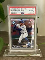 2019 BOWMAN CHROME FERNANDO TATIS JR #26 ROOKIE RC PSA 10 GEM MINT PADRES STAR