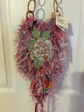 Perla Lichi Handbag Chenille Hyper Lux One Of A Kind Handmade Le Jardin Purse