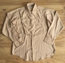 Rockmount Ranch Wear Tan Horse Cavalry Bib Pearl Snap Shirt Mens 16.5 - 35 (XL)