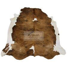 XXLARGE BRINDLE LIGHT BROWN COWHIDE RUG 7'x6' Ft Cow Skin Rug Cow Hide Carpet