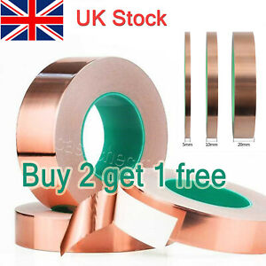 20mm Wide Copper Tape Slug, Snail Repellent, Self Adhesive Tape (PAY 2, GET 3)