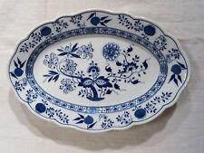 Ältere Hutschenreuther Porzellan ovale Platte  Zwiebelmuster 35cm x 24cm
