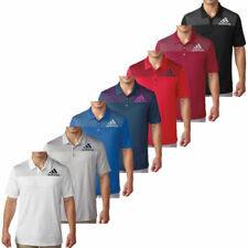 adidas Polyester Short Sleeve Golf Shirts & Sweaters for Men