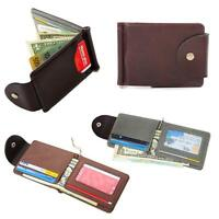 2016 New Ultra-thin Leather Money Clip Slim Wallets ID Credit Card Holder Purse