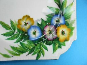 ANTIQUE AYNSLEY WILD ANENOME PLATE HAND PAINTED c1930
