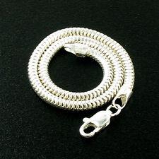 Italian 8.5inch 3mm Sterling Silver Snake Bracelet