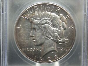 """1928 """"P"""" Peace Silver Dollar $1 ICG AU58 Details East Coast Coin & Collectables"""