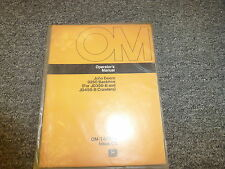 John Deere 9250 Backhoe for 350B 450B Owner Operator Maintenance Manual OMT40349