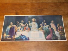 1928 IMAGE PIEUSE jesus christ LA SAINTE CENE felix freund berlin ZATZKA supper