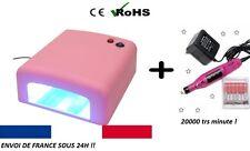 KIT LAMPE UV ONGLES pro 36w TIMER gEL MANUCURE + PONCEUSE MANUCURE et EMBOUTS