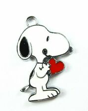 10 pcs Lovely red Heart Snoopy Metal Charms Pendants DIY Jewellery Making crafts