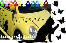 Large CAT Butterfly Paw Prints Set Car window Decal sticker VW butterflies USA