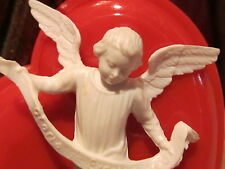 Vntge Christmas, Valentines Day Cherub Angel Heart Ornament Gift Tag Charm Italy