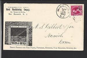 "NEW BRUNSWICK, NEW JERSEY COVER,1893,ADVT."" MARSH MANUFACTURING CO."""