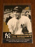2009 Upper Deck SPx Baseball Career Highlights #62 - Joe DiMaggio - Yankees