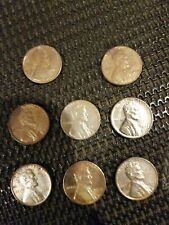 1943 Steel Wheat Penny Pennies Lot of 8! Rare and hard to find. Make an offer!