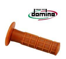 Revêtements de poignée DOMINO cross vintage marron moto 120 mm ancien rétro NEUF