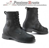 Scarpe moto Tcx X-blend WP nero black shoes waterproof impermeabili