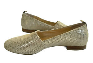 PAUL GREEN shoes. Pale gold shimmer suede flats.  Made in Austria. Near new. 39