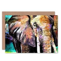 Birthday Painting Robertson Elephant Blank Greeting Card With Envelope