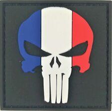patch écusson  Punisher PATRIOT FRANCE 5X5cm PVC