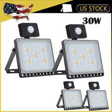 4 x30W Pir Motion Sensor Led Flood Light Outdoor Wall Security Warm White Lamp
