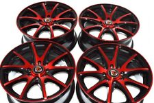 15 red Wheels Civic Miata Yaris Aveo Cobalt Integra Accord xB 4x100 4x114.3 Rims