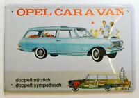 AUTO - OPEL CARAVAN - COMBI-WAGEN - BLECHSCHILD 30 x 20 cm (BS 633)