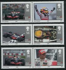 2009 ISLE OF MAN LEWIS HAMILTON F1 WORLD CHAMPION SET OF 6 FINE MINT MNH/MUH