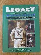 1992-93 BOSTON CELTICS Greenbook LARRY BIRD KEVIN McHALE ROBERT PARISH AUERBACH