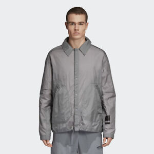 adidas Originals NMD Coach Shirt Jacket Men New Mens Grey CV5820